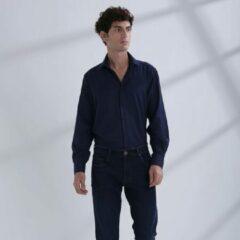 Heren Overhemd Donkerblauw MT 39 - Baurotti Lange Mouw Regular fit
