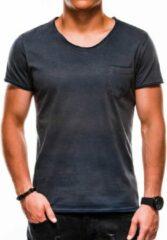 Marineblauwe Merkloos / Sans marque Heren - T-shirt - S1049 - Navy