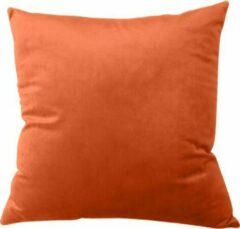 TAQI Velvet Terracotta Kussenhoes -Sier Kussensloop - Fluweel -Super Zachte Korte Fleece - 50*50 cm - Khaki Oranje