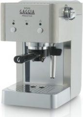 Zilveren Gaggia RI8427/11 Vrijstaand Handmatig Espressomachine 1l Roestvrijstaal koffiezetapparaat
