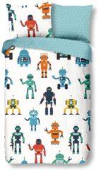 Good Morning Robots - Dekbedovertrek - Junior - 120x150 cm + 1 kussensloop 60x70 cm - Multi kleur