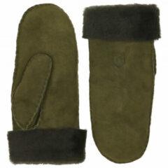 Hestra - Sheepskin Mitt - Handschoenen maat 6, olijfgroen/zwart