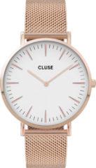 CLUSE Horloges Boho Chic Mesh Rose Gold Plated White Roségoudkleurig