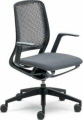 Sedus se:motion, Bureaustoel, zwart, met armleuningen, zitting gestoffeerd in antraciet, universele wielen