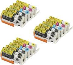 Cyane KATRIZ huismerk voor canon cartridge 570XL 571XL 570 571   Pixma MG 5700/MG 5750/ MG 5751/ MG 5752/ MG 5753/ MG 6800/ MG 6850/MG 6851/MG 6852/MG 6853/MG 7700/MG 7750/MG 7751/MG 7752/MG 7758 15stuks   Met chip