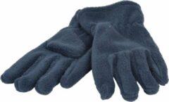 Donkerblauwe P&T Handschoenen Micro Fleece - Donker Blauw - 7-8j