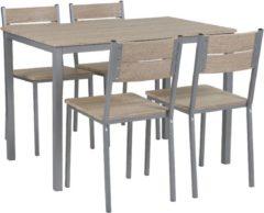 Beliani BLUMBERG - Eetgroep - Lichte houtkleur - MDF