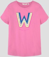 TOM TAILOR T-shirt met print, kids fuchsia pink, 140