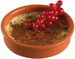 Bruine Cosy&Trendy 4x Creme brulee schaaltjes terracotta 13,5 cm - Hapjes schaaltjes - Tapas schaaltjes