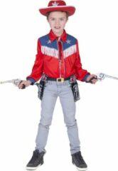 Rode Funny Fashion Verkleedpak cowboy hemd jongen Cowboy Jeans Boy 140