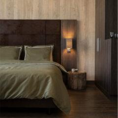 Witte The Home Collection Hotel Home Collection - Eenpersoons Dekbedovertrek London - Truffel 140x200 cm - Microvezel - Dekbedovertrek met kussensloop