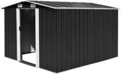 Zwarte VidaXL Tuinschuur 257x298x178 cm metaal antraciet