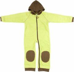 Ducksday fleece suit unisex groen/bruin - 104/110