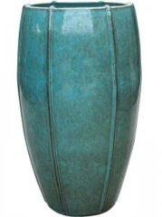 Blauwe Ter Steege Moda pot high 43x43x74 cm Blue bloempot
