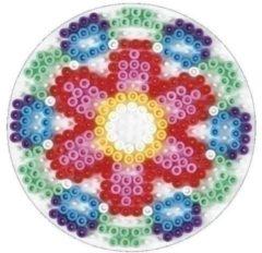 Witte Hama strijkkralen grondplaat - Rond medium