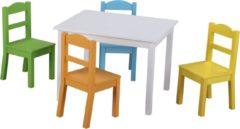 Classic World - Furniture & Decor Classic World Tafel & 4 Stoelen - Hout