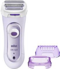 Paarse Braun Silk-épil Lady Shaver 5-560 3-in-1 scheerapparaat, trimmer en scrubsysteem