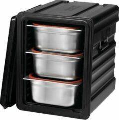 Zwarte Saro geïsoleerde voedsel transport container Model REES
