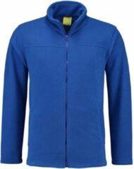 L&S Kobaltblauw fleece vest met rits voor volwassenen S (36/48)