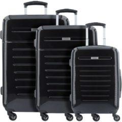 Panama 4-Rollen Kofferset 3tlg. Bugatti schwarz