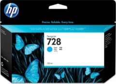 HP 728 cyaan DesignJet inktcartridge, 130 ml (F9J67A)