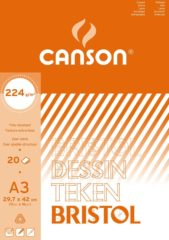 Witte Canson tekenblok Bristol formaat 297 x 42 cm (A3)