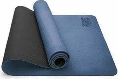 Sens Design yogamat sportmat fitnessmat - donkerblauw/donkergrijs