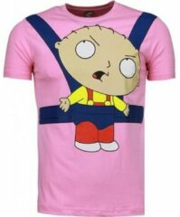 Roze T-shirt Korte Mouw Local Fanatic - Masch. Baby Stewie - T-shirt