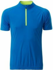 James & Nicholson Fusible Systems - Heren James and Nicholson Half Zip Fietsshirt (Blauw/Geel)