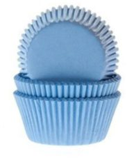 Blauwe House of Marie Cupcake Cups MINI Licht Blauw 35x23mm. 60 st.