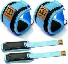 Marrald Enkelband Fitness 2 Stuks - Ankle Cuff - kabelmachine sport beenband strap - Blauw