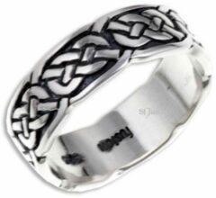St Justin Ltd Pictish Knot (Narrow) Zilveren Ring Maat 53