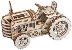 Robotime TRACTOR-A DIY handcradt farm tractor toy featuring gears drive and friction power