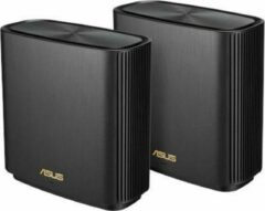 ASUS ZenWiFi AX (XT8) - Draadloze router - Geschikt voor Wifi 6 - 2-pack / Zwart