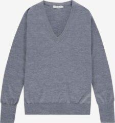 The Clothed Dames trui grijs merino v hals - PARIS