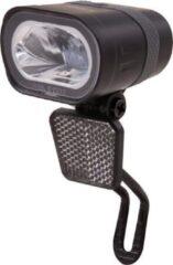 Zwarte Spanninga Axendo Fiets koplamp - 40 lux - Dynamo - Auto-Sensor en standlicht