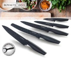 Royalty Line Royalty-Line RL-MB5; Non-Stick coating Knife Set 5PCS Zwart