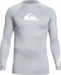 Licht-grijze Quiksilver Quicksilver - UV-zwemshirt voor heren - Longsleeve - All Time - Lichtgrijs - maat M