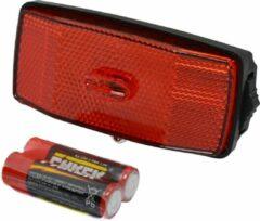 Rode Dresco Achterlicht - Reflector - 2 Led - incl.Batterijen