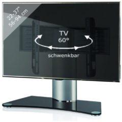 TV-Standfuß Tischfuß TV Fernseh Aufsatz Fuß Erhöhung schwenkbar drehbar 'Windoxa Mini' VCM Schwarzglas