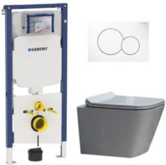 Douche Concurrent Geberit UP720 Toiletset - Inbouw WC Hangtoilet Wandcloset Rimfree - Alexandria Flatline Sigma-01 Wit