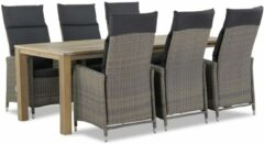 Taupe Garden Collections Madera/Bristol 220 cm dining tuinset 7-delig