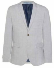 Licht-grijze WE Fashion Heren regular fit blazer Dali - Maat S (44)