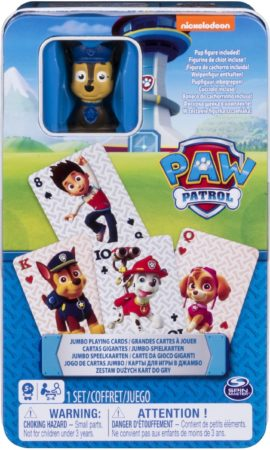 Afbeelding van PAW Patrol - Jumbo Cards in Tin with Figurine