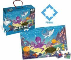 FDBW Puzzel Onderwaterwereld – Jumbo | Puzzel Vloerpuzzel | Vloerpuzzel kinderen 3 jaar – Zeedieren | Jumbo Puzzel | Kinderpuzzel – Vloerpuzzel – 48 stukjes | 90 cm x 60 cm