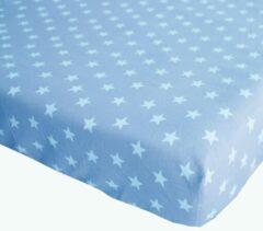 Blauwe BINK Bedding Hoeslaken Stars Blue Juniorbed 70 x 150 cm