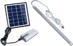 Witte POWERplus Dove Solar Energie Verlichtings Systeem zonne-energie LED verlichtingen en lader voor mobiele telefoon