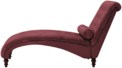 Bordeauxrode Beliani MURET - Chaise longue - Bordeaux - Fluweel