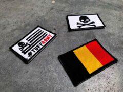 Rode Tuff Guy Sports Tuff Guy - Patches - Crossfit - Fitness - Flag - Embleem - Rugzak- Riemen- Belgium