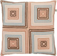 Blauwe Dutch Decor Kussenhoes Sarita 45x45 cm petrol